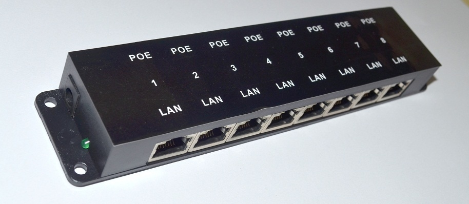 Passive Poe Injector 8 Port Poe Inj 8 The Source For